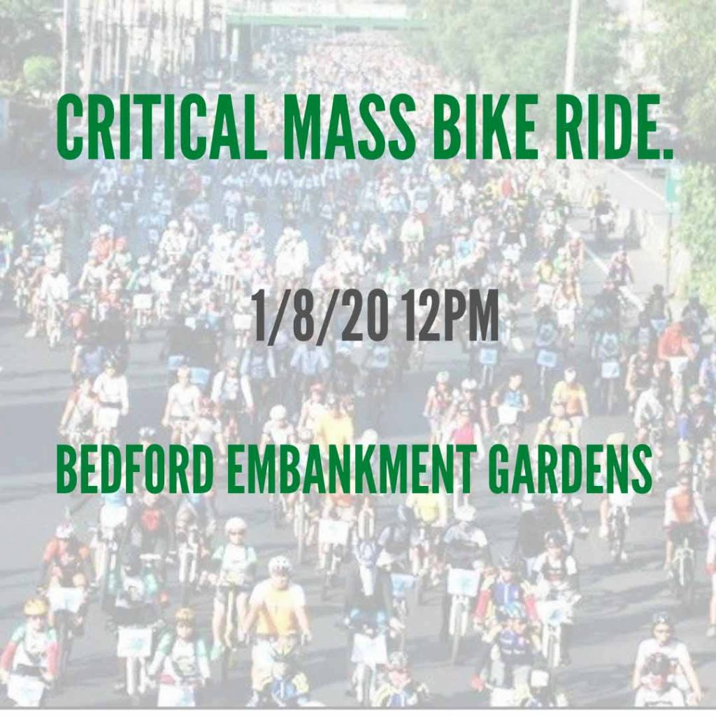 Bedford's First Critical Mass Cycle Ride