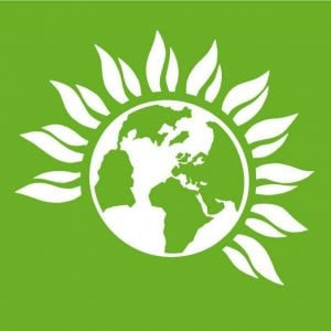 Image Green Party World and petals