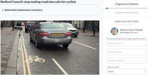 Screen Shot of Cycling Petition