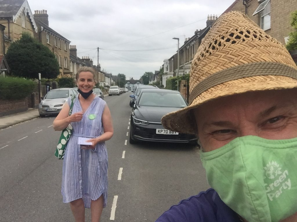 Councilllors Ben and Lucy out and about