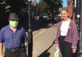 Local Councillors Lucy Bywater and Ben Foley, who have been working hard to help local residents in Grafton Road/Rutland Road