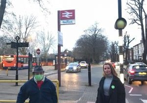 Lucy and Ben at Bedford Train station